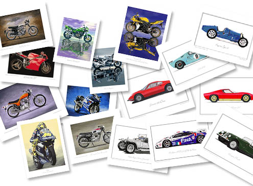 A Selection of Automotive Prints by Steve Dunn